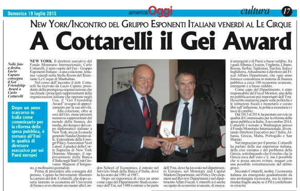 America Oggi - GEI Cottarelli copy